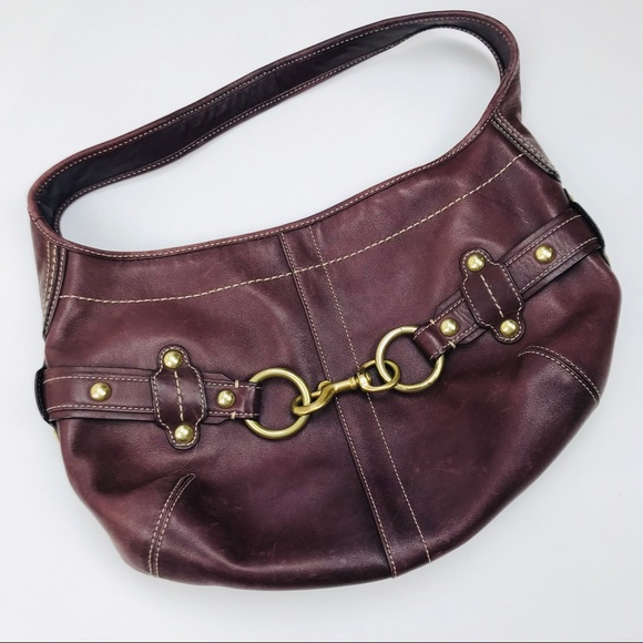 Coach Bags   Burgundy Hobo Shoulder Bag   Poshmark 141c7b6ec8